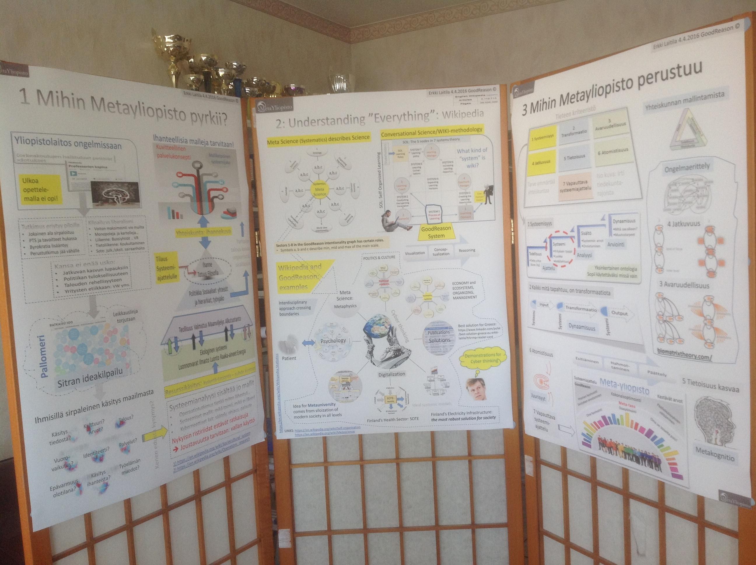"""Posteri–presentaatio kohti """"kaiken ymmärtämistä"""""""
