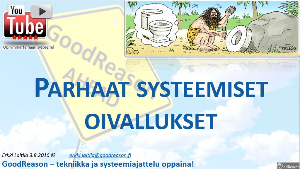 Parhaat systeemiset oivallukset — ekosysteemien kehittämiseksi