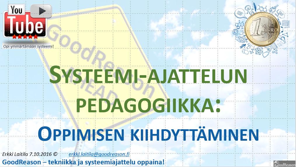 Systeemiajattelun pedagogiikka: oppiminen, opettaminen ja soveltaminen