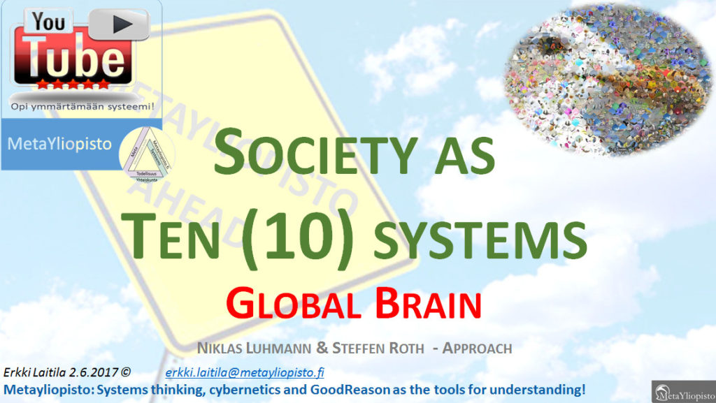 Cross navigating society using 10 systems model; the Global Brain – approach