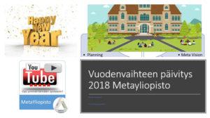Vuodenvaihde 2018: Metayliopiston näkemykset ja näkymät