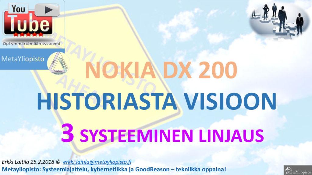 DX200 (Nokia) on Suomen kaikkien aikojen menestystarina; kybernetiikka neuvoo sille uusia visioita