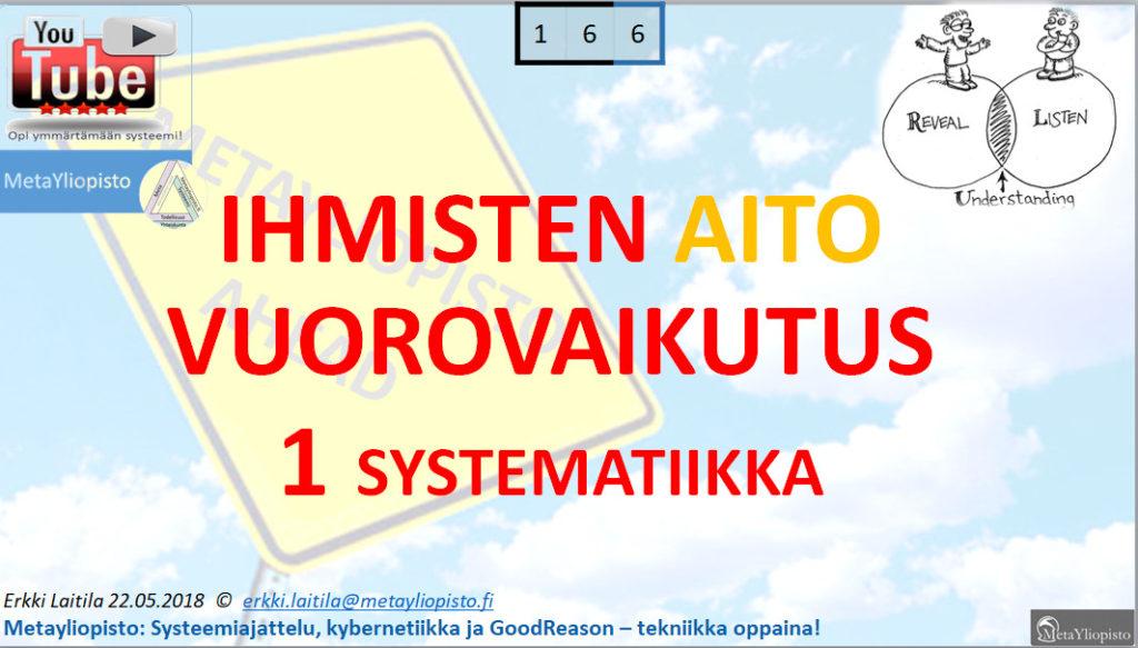 Aito vuorovaikutus; Millainen kybernettinen malli siitä rakentuu? Miten Suomen sote kompastelee siinä?