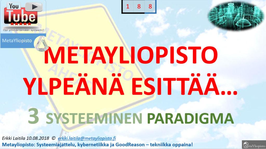 Metayliopisto esittelee systeemisen paradigman