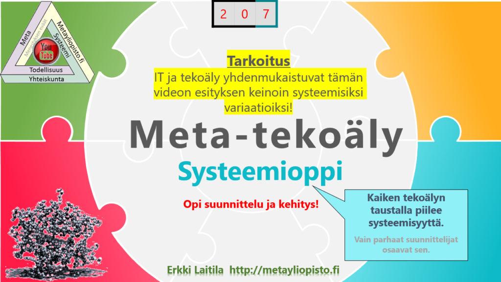 Metatekoäly — systeemipeli: paras asetelma vaativaan ja tuottoisaan kehitykseen