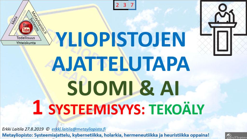 Suomen tutkimusinfrastruktuuri ei riitä kehittämään käsitystä tekoälystä