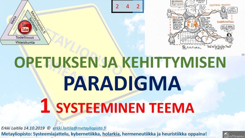 Tiedollisen kehittymisen paradigma: oppimisesta kehityshankkeisiin asti
