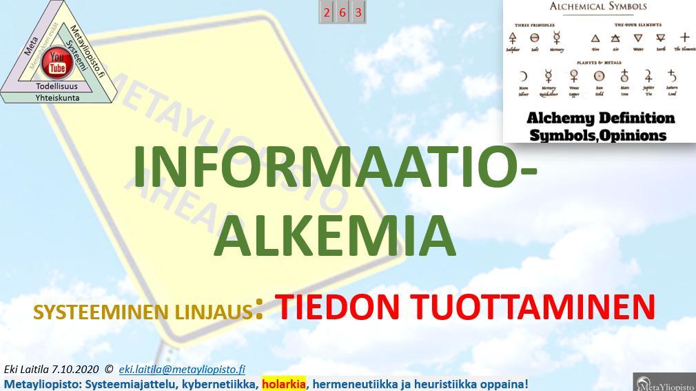 Informaatioalkemia – Kultaa ei voi valmistaa, mutta informaatiotulvan kanssa olemme ongelmissa!