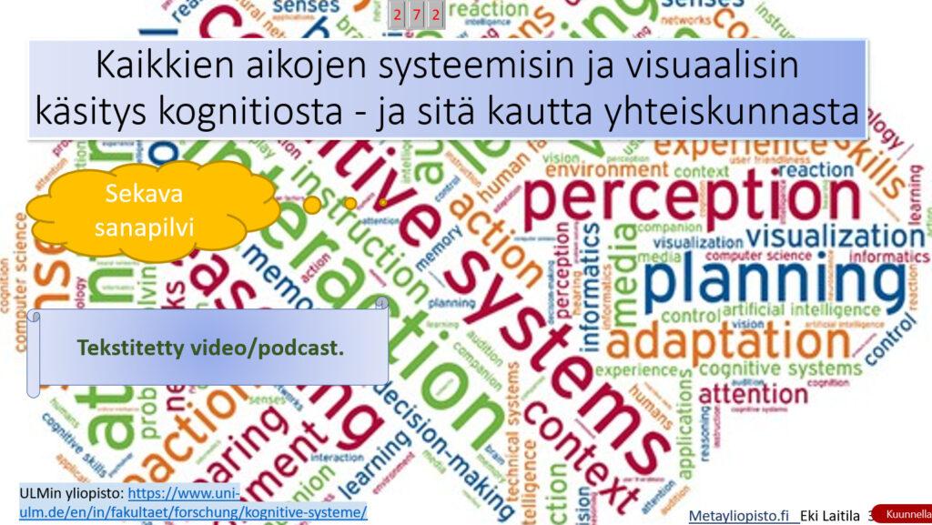 Kaikkien aikojen systeemisin käsitys kognitiosta ja yhteiskunnasta