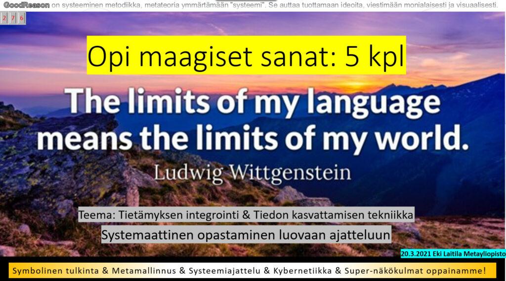 Kieleni rajat ovat maailmani rajat, mutta onko kukaan kieltänyt rikkomasta niitä?
