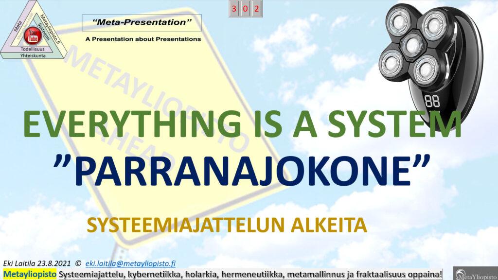 Everything is a System; onko parranajokone myös?